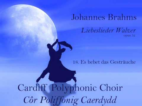 Johannes Brahms |  Liebeslieder Walzer opus 52 no 18| Cardiff Polyphonic Choir 1991/2