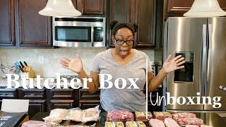 Butcher Box Unboxing | Shae's Kitchen | Grass Fed Meat