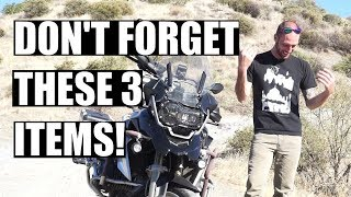 Three Things To Always Pack On A Long Motorcycle Trip