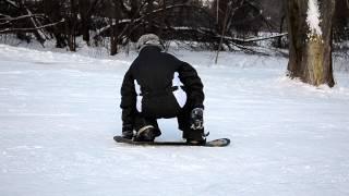 Сноуборд,9янв2013 Ходьба на коленях