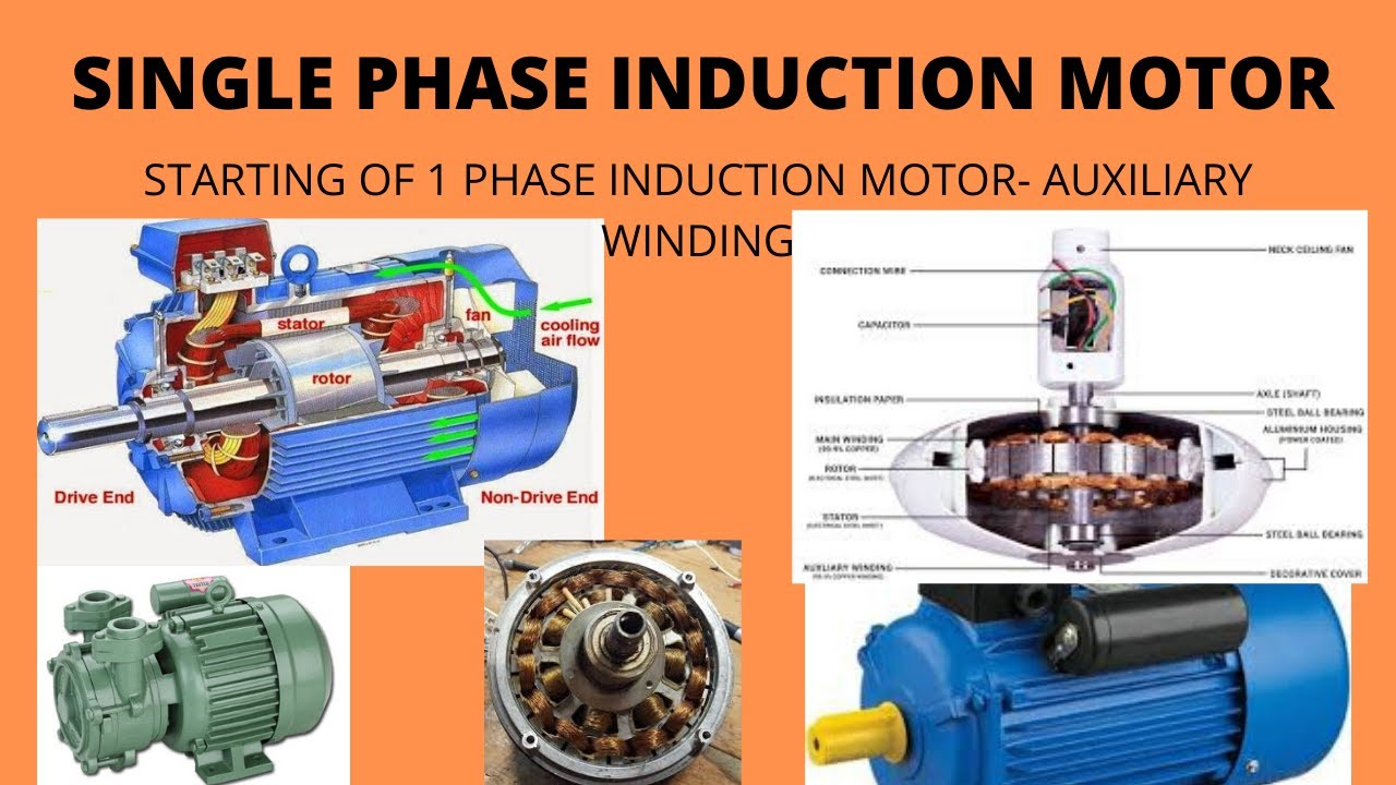 Starting Of 1-phase Induction Motor With Auxiliary Winding