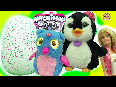 Thumbnail: Feeding Playdoh Food & Taking Care of Hatchimals Owlicorn + Baby Egg with Fur Real Friends