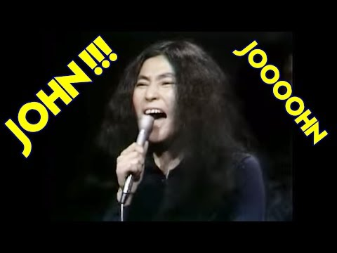 Yoko Ono screaming insanely in the studio ! (JOOOOHN)