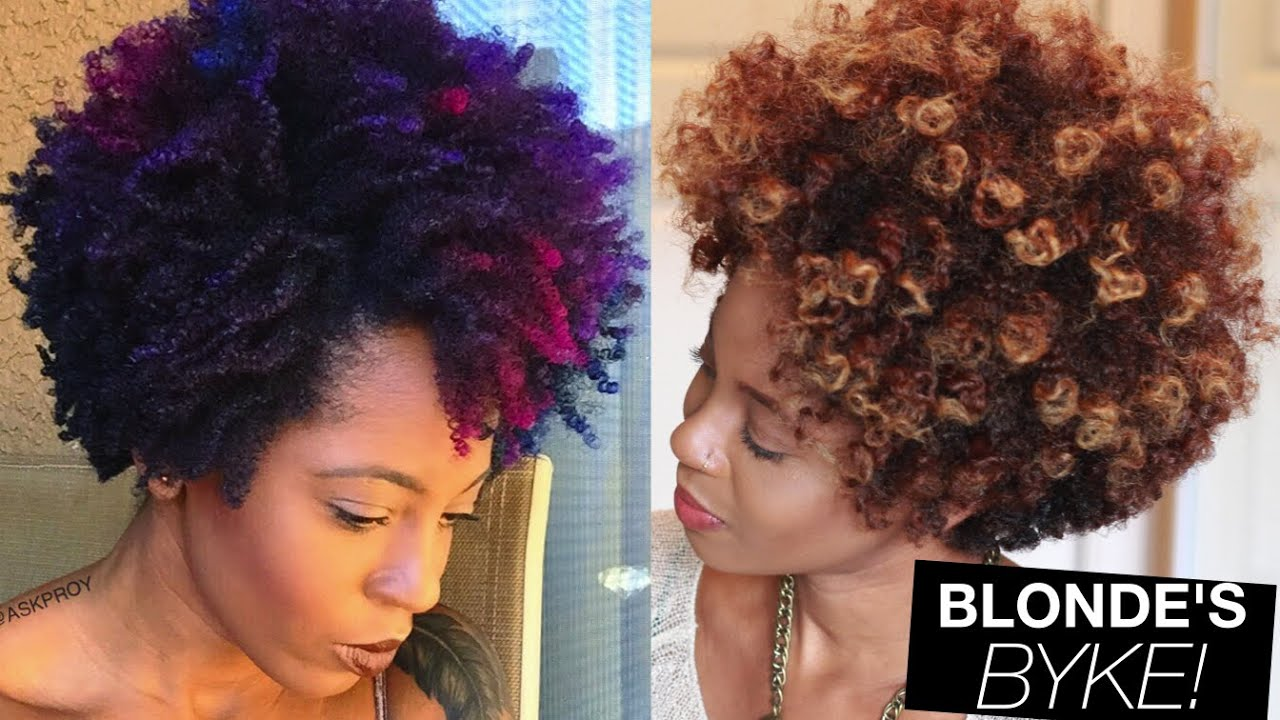 From Colorful Natural Hair to Blonde | askpRoy - YouTube