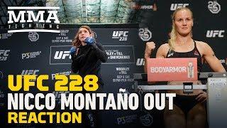 UFC 228: Nicco Montano vs. Valentina Shevchenko Fight Canceled - MMA Fighting
