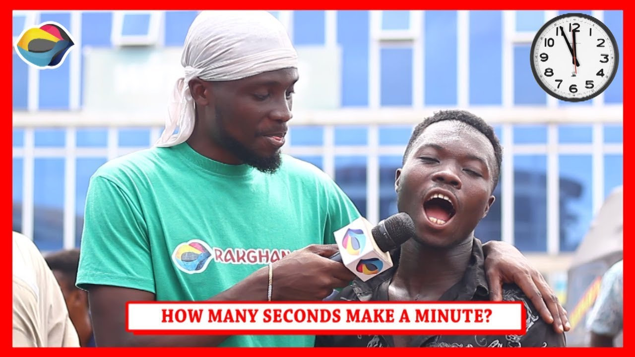 How Many Seconds Make A Minute? | Street Quiz | Funny African Videos | Funny Videos | African Comedy