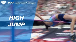 Mariya Lasitskene flies over 2.00 to win the Women's High Jump - IAAF Diamond League London 2017