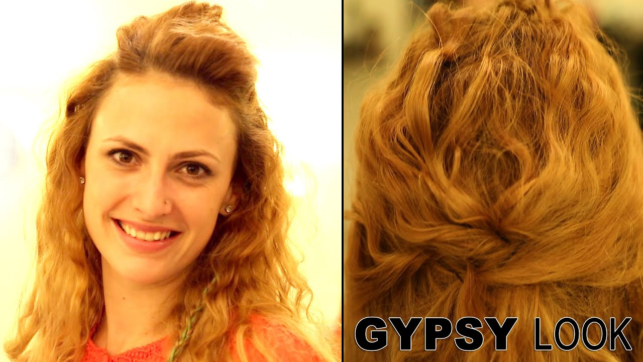 Gypsy Hairstyle Wavy Hairstyle Messy Beach Waves Hairstyle Youtube