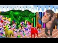 Learn Fruits And Animals With Funny Monkey Style PC Games - Cartoon Rhymes For Kids