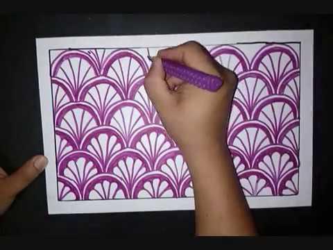 Belajar Menggambar Batik Motif Kerang Sederhana Youtube