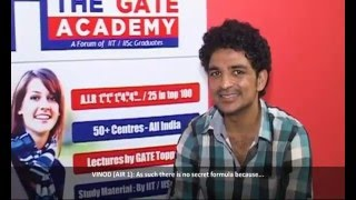 How To Crack Gate Exam? - Vinod Datusliya Gate '13 Air 1 - The Gate Academy