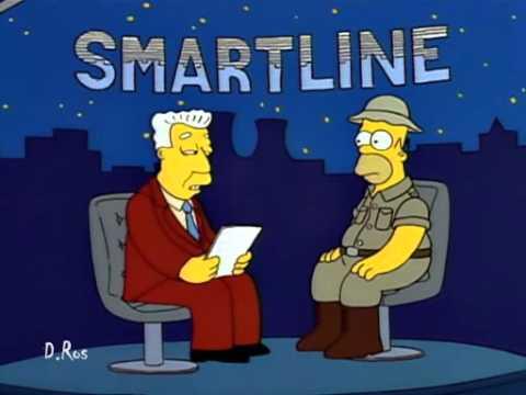 Parodia de la entrevista de Rajoy en Onda Cero con Los Simpson