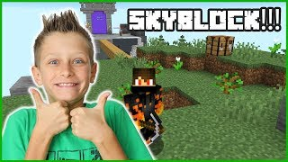 MY FIRST TIME PLAYING SKYBLOCK!!!