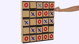 How to make Giant Tic Tac Toe Board Game from cardboard