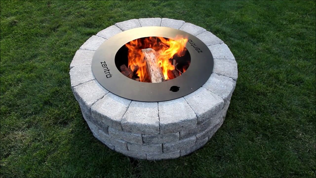 How to build a zentro smoke less fire pit youtube for How do i build a fire pit