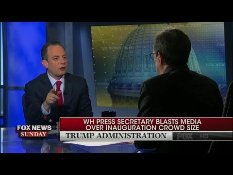 """Priebus to Wallace: """"It's really not about crowd size, what it's about is honesty in the media"""""""