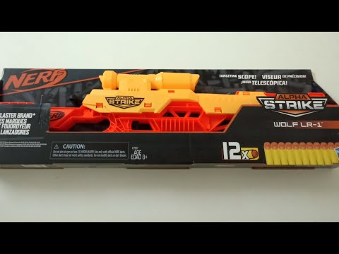NERF ALPHA STRIKE WOLF LR - 1 (UNBOXING) (REVIEW) (TESTING) Hasbro