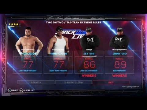 WWE 2K18 uso vs colons