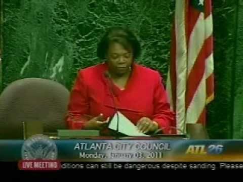 Atlanta City Council & Ken Meyer receiving SEAF Facilitation Impact Award 1-3-2011