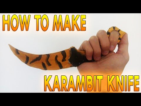 How to Make a Paper CS:GO Karambit Knife