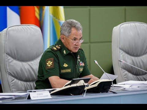 Селекторное совещание под руководством Министра обороны РФ Сергея Шойгу