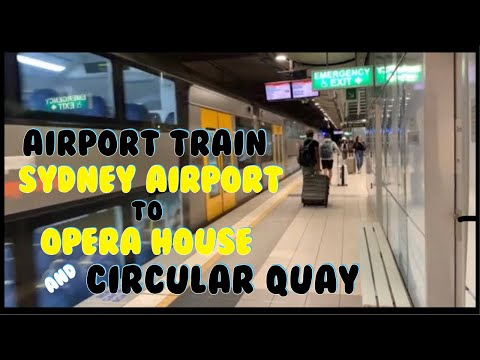Train To Sydney Airport From Downtown Sydney, AU Circular Quay, Cruise Ship Terminal & Opera House
