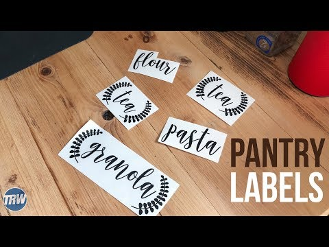 Easy Profits Making Pantry Labels With FDC Decal Vinyl