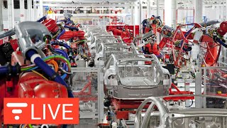 Tesla Shuts Down Model 3 Production - Is This a Good Thing? [LIVE] streaming