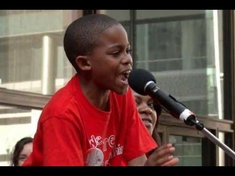 9-Year Old Stands Up To Rahm Emanuel Closing His School