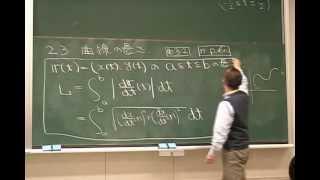 ベクトル解析(2006) L02 3 曲線の長さ