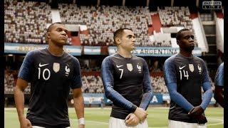 France vs Argentine FIFA 19 Difficulté Ultime Gameplay PC