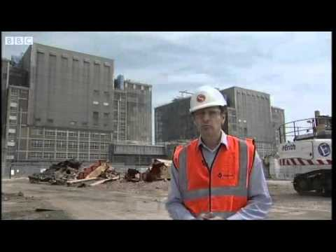 BBC Bradwell Power Station Turbine Hall Demolition
