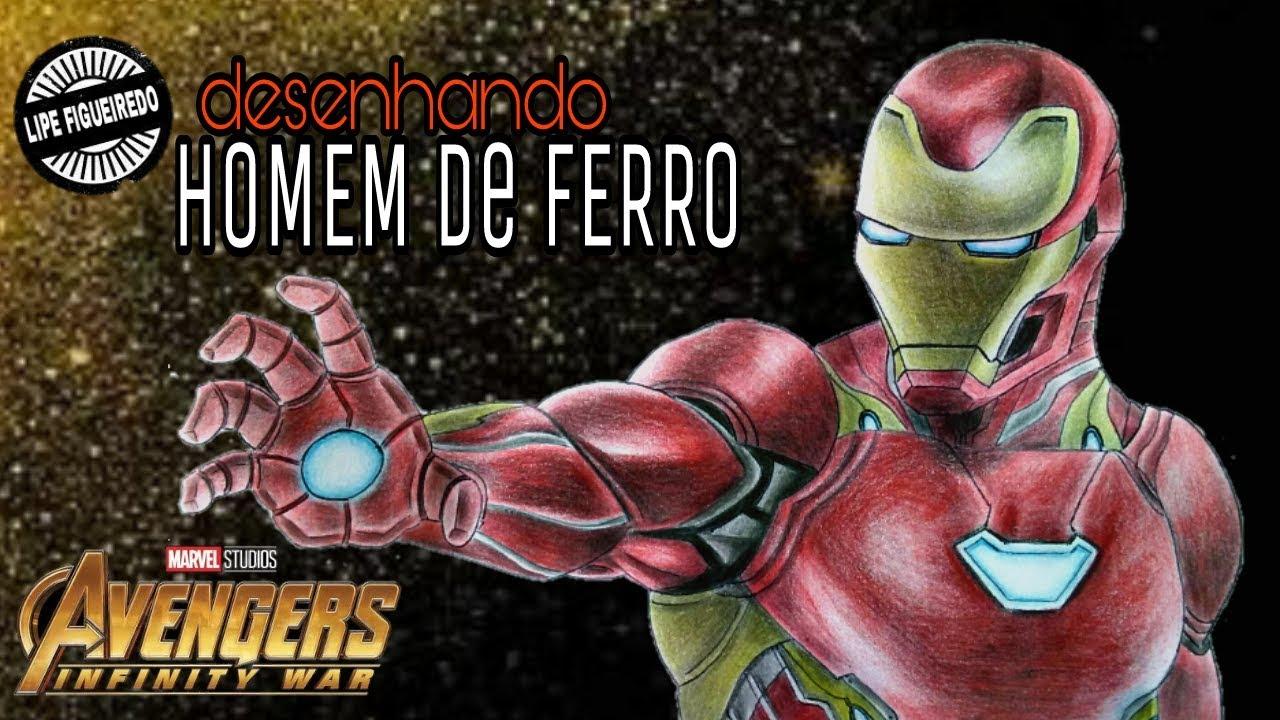 Desenhando Homem De Ferro Vingadores Ultimato Draw Iron Man Avengers Endgame