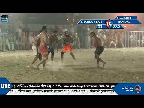 FINAL MATCH || RAMDAS v/s KHANDUR SAHIB || Lider (Amritsar) Kabaddi Cup 2020