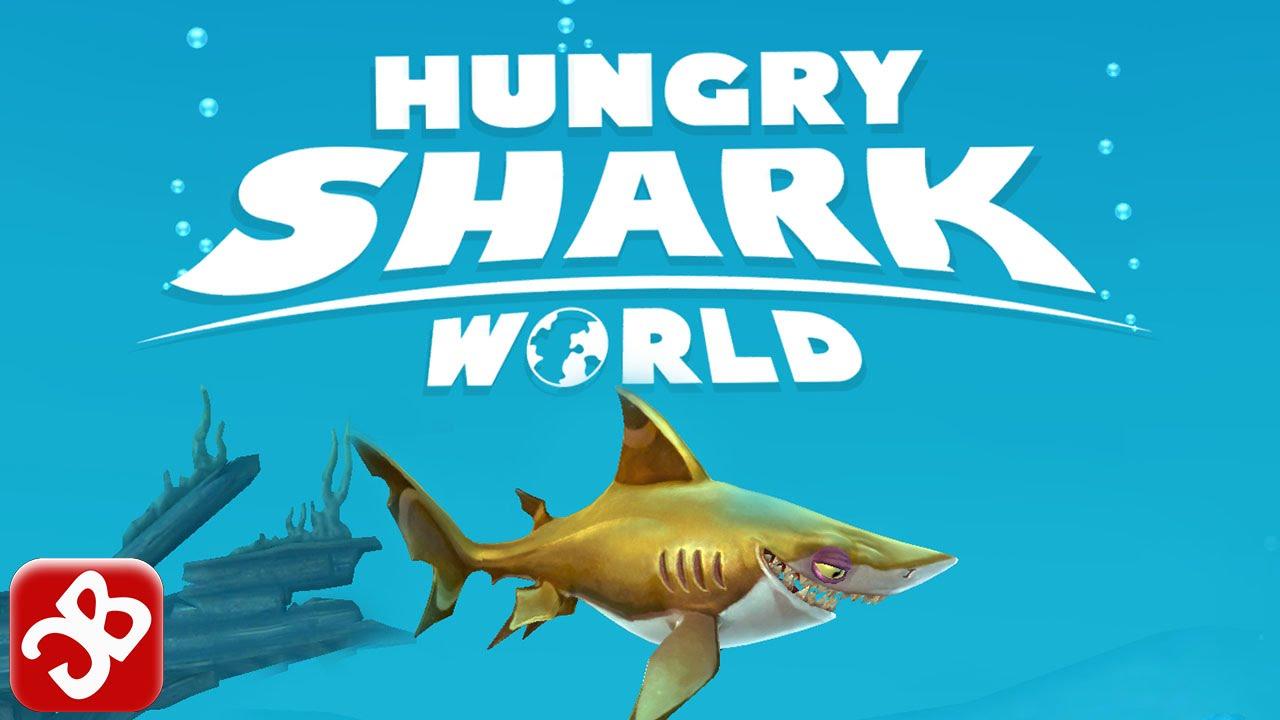 لعبه Hungry Shark World v0.4.0 مهكره جاهزه (جديده رائعه)
