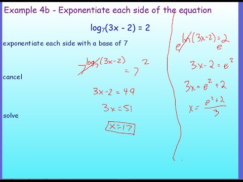 Pre- Calculus - Solving Logarithmic Equations - YouTube