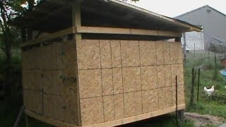 Chicken Coop Construction Video. Low Cost: 400 Dollars For And 8 By 8 Chicken Coop