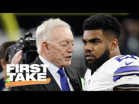 First Take reacts to Jerry Jones defending Ezekiel Elliott's effort | First Take | ESPN