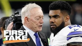 First Take reacts to Jerry Jones defending Ezekiel Elliott's effort   First Take   ESPN