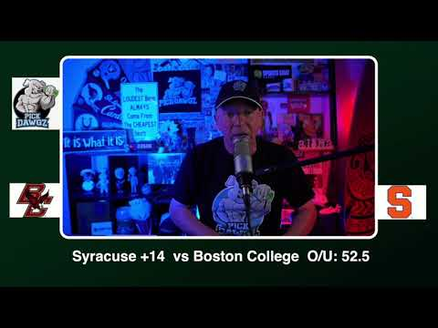 Syracuse vs Boston College Free College Football Picks and Predictions CFB Tips Saturday 11/7/20