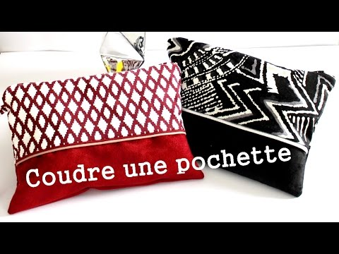 Coudre une pochette youtube for Trousse couture cuir