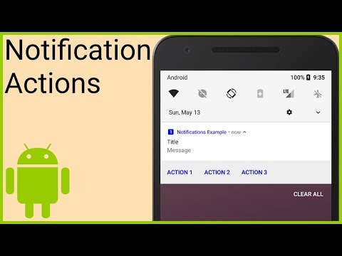 Notifications Tutorial Part 2 - ACTION BUTTONS & COLOR - Android Studio Tutorial