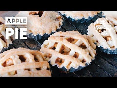 How to make Mini Apple Pies   Cách làm bánh pie táo   Nhi Chan