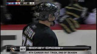 Sidney Crosby Hat Trick on Hat Night! [11-28-09]