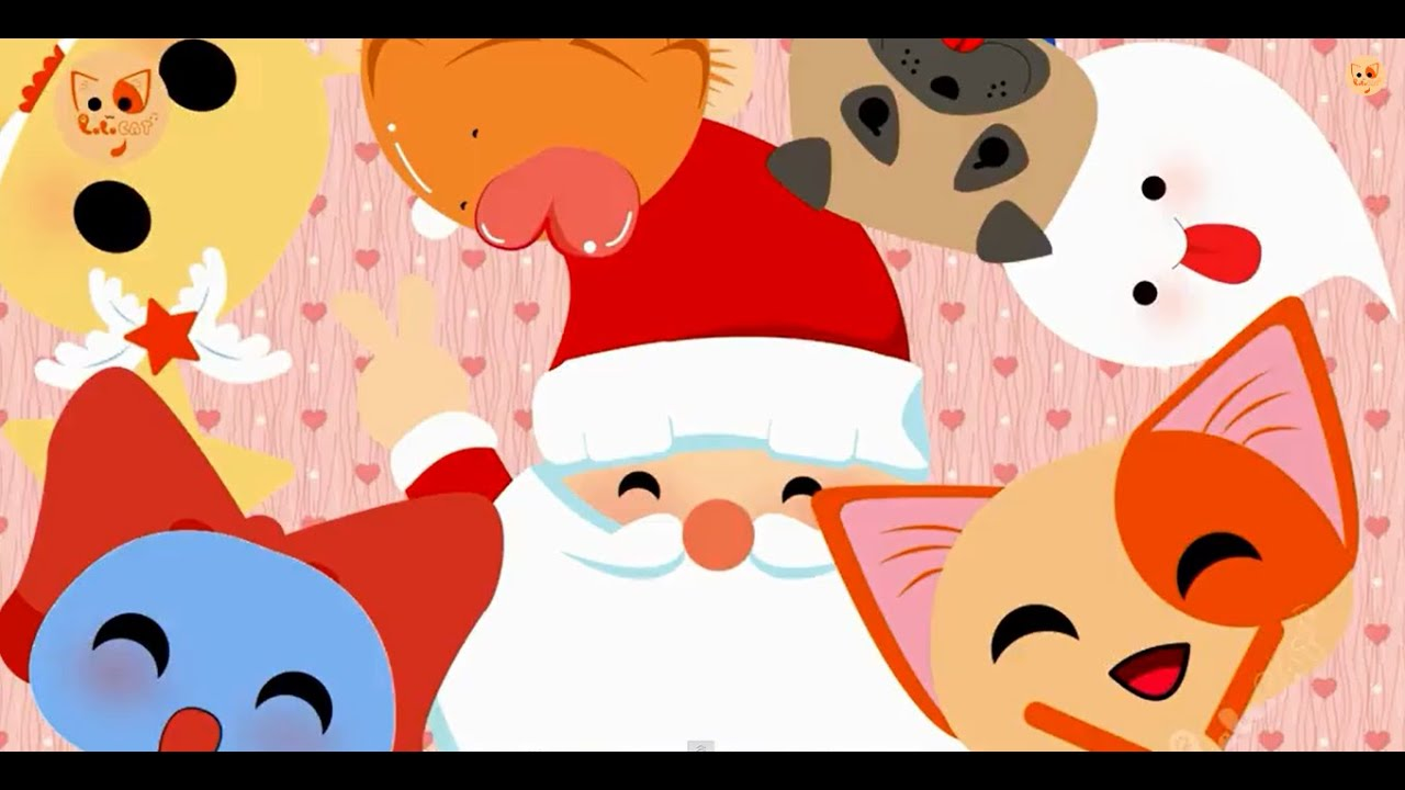 Santa Claus Is Coming To Town - Christmas Xmas Songs English Subtitle - Lala Cat Official - YouTube