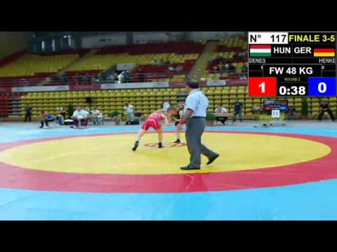 Final EJWC Skopje 2013 FW 48KG 05.07.13 3rd Place And 5th Place