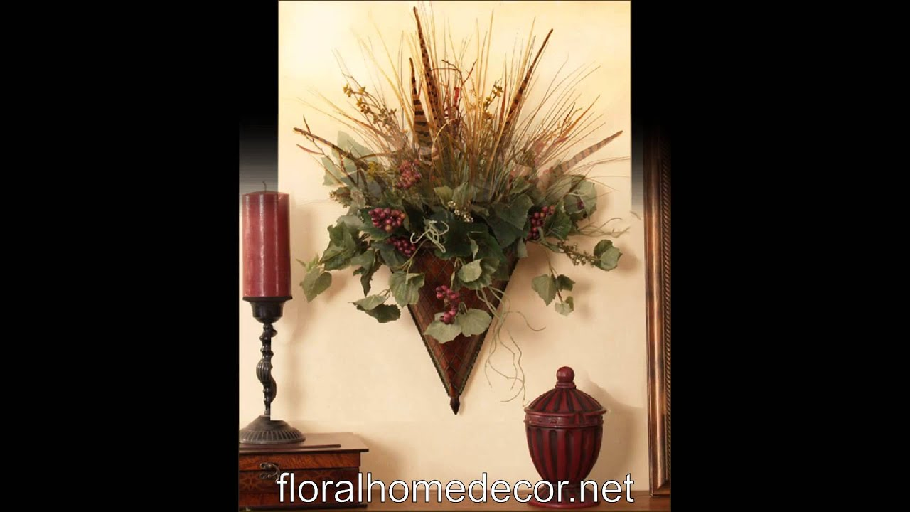 Decorative Wall Sconces For Flowers wall sconces - floral home decor - youtube