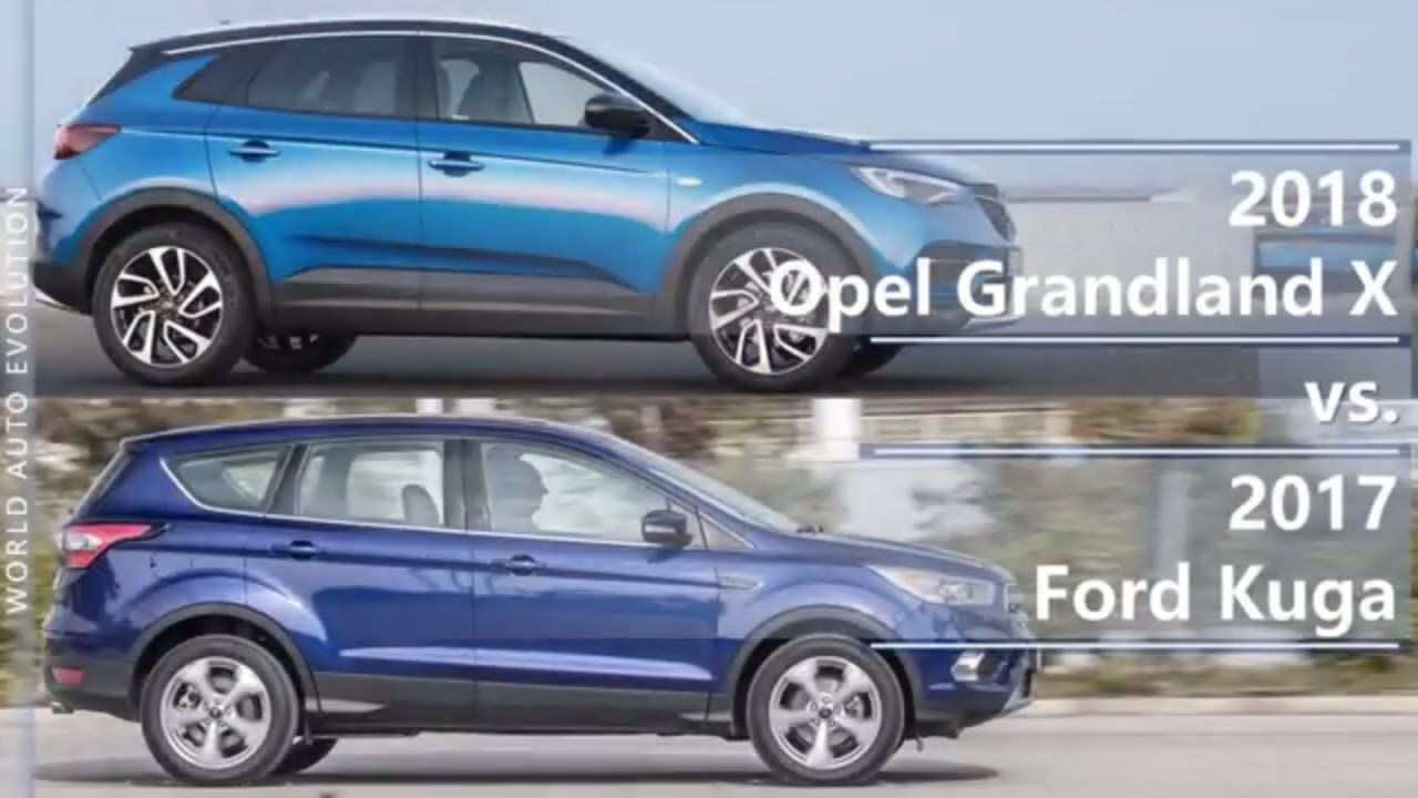 2018 Opel Grandland X Vs 2017 Ford Kuga Technical Comparison