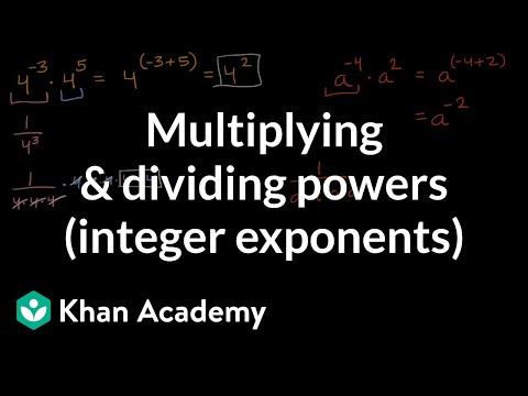 Multiplying & dividing powers (integer exponents) | Mathematics I | High School Math | Khan Academy