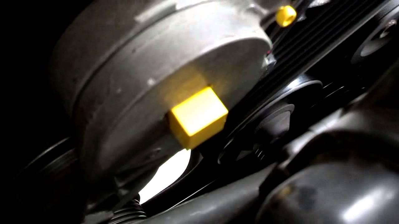 medium resolution of serpentine belt replacement tensioner release volvo 850 s70 v70 volvo 850 serpentine belt